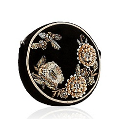 No. 1 Jenny Packham - Black embellished round velvet bag