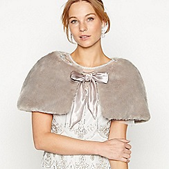 No. 1 Jenny Packham - Grey faux fur bow shrug