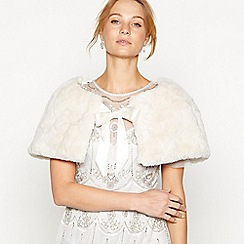 No. 1 Jenny Packham - Cream patterned fur cape