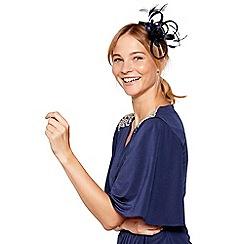 No. 1 Jenny Packham - Navy sparkle satin loop clip