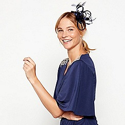 No. 1 Jenny Packham - Navy sparkle satin loop clip
