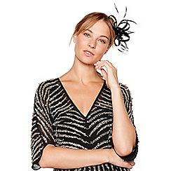 No. 1 Jenny Packham - Black sparkle satin loop clip