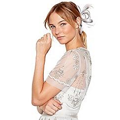 No. 1 Jenny Packham - Silver sparkle satin loop clip