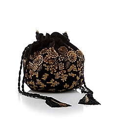 No. 1 Jenny Packham - Black Embellished Velvet Pouch