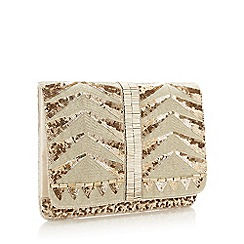 Star by Julien Macdonald - Gold Embellished Chevron Clutch Bag