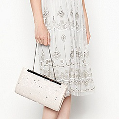 No. 1 Jenny Packham - Light pink glitter 'Jasmine' clutch bag