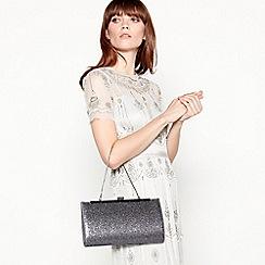 No. 1 Jenny Packham - Silver glitter 'Jasmine' clutch bag