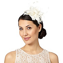 Principles - Ivory 'alex' feather fascinator