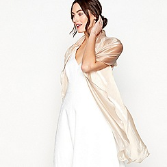 Debut - Light gold ruffled organza stole