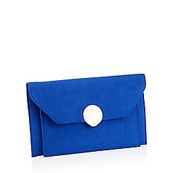 Star by Julien Macdonald - Blue Envelope Microfibre Clutch Bag