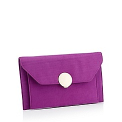 Star by Julien Macdonald - Purple Envelope Microfibre Clutch Bag