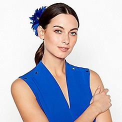 Star by Julien Macdonald - Blue Flower Feather Clip