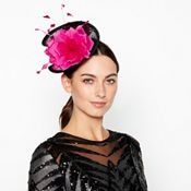c122af7b2c1 Star by Julien Macdonald - Black Two Tone Flower Twist Fascinator