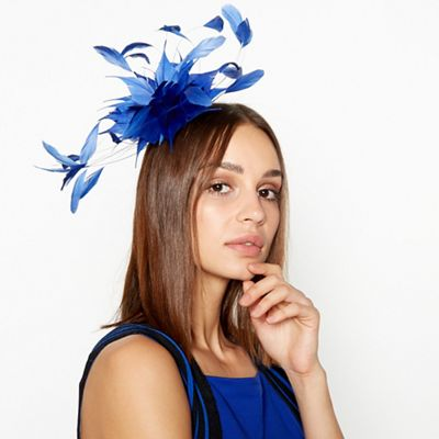 2b05f91b53f Star by Julien Macdonald - Blue Cut Feather Spray Fascinator