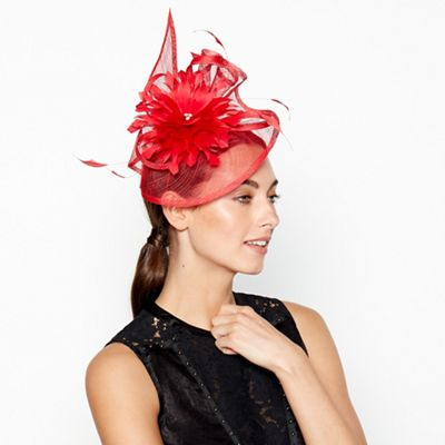 455a7cf3cb6 Star by Julien Macdonald Red Flower Bon Swoop Fascinator