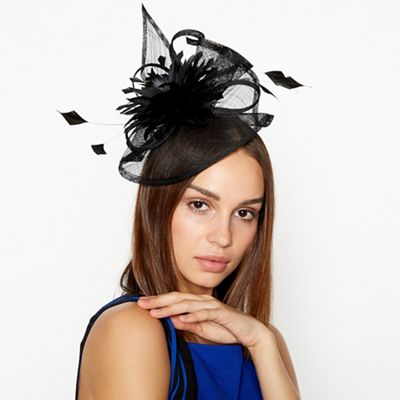 0afc29c44c5 Star by Julien Macdonald - Black Flower Bon Swoop Fascinator