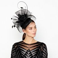 bb966493859 Star by Julien Macdonald Black Two Tone Flower Twist Fascinator ...