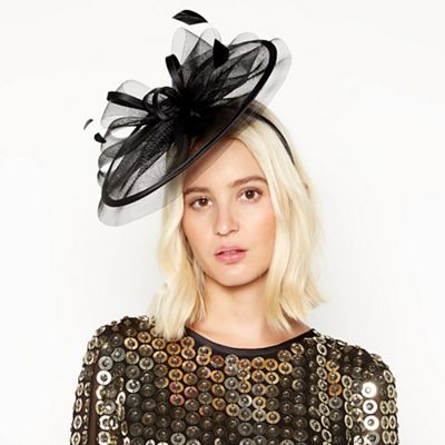 7170def13c1 Star by Julien Macdonald - Black mini saucer fascinator