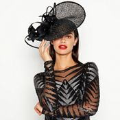 86d8ac9de65 Star by Julien Macdonald - Black Diamante Flower Fascinator