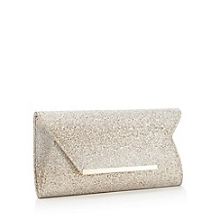 Debut - Gold Ombre Glitter Envelope Clutch Bag