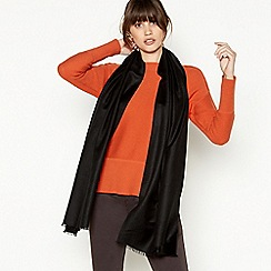J by Jasper Conran - Black silk blend pashminetta