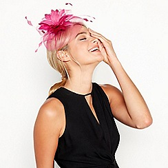 Debut - Bright Pink Feather Flower Cloud Fascinator