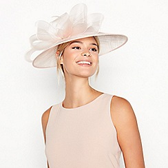 Debut - Pale Pink Crin Trim Bow Saucer Hat f30678d3f76