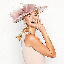 Debut - Pink Crin Trim Bow Saucer Hat
