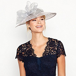 Debut - Silver Crin Trim Bow Saucer Hat 7de154688ab