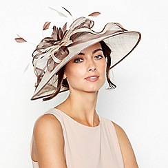 Debut - Brown Two Tone Saucer Fascinator