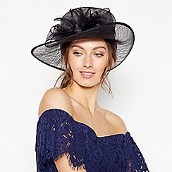 Debut - Navy Soft Feather Bow Hat