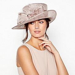 Debut - Taupe Soft Feather Bow Hat