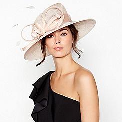Debut - Pink Beaded Embroidered Loop Brim Hat