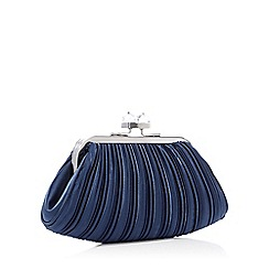 No. 1 Jenny Packham - Navy Pleated Cube Clutch Bag