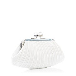 No. 1 Jenny Packham - Ivory Pleated Cube Clutch Bag
