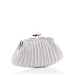 No. 1 Jenny Packham - Silver Pleated Cube Clutch Bag