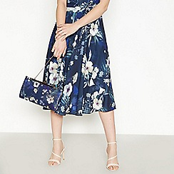 No. 1 Jenny Packham - Navy Floral Print Clutch Bag