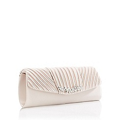 No. 1 Jenny Packham - Nude Triple Pleat Embellished Bar Clutch Bag