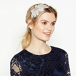 No. 1 Jenny Packham - Ivory Embellished Leaf Headband