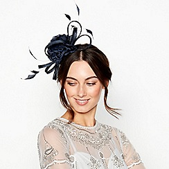 No. 1 Jenny Packham - Navy Flower Loop Band Fascinator