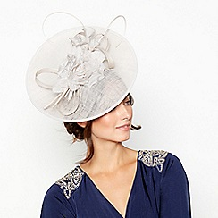 No. 1 Jenny Packham - Silver Flower Quill Disc Fascinator