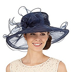 Hatbox - Navy oversized bow hat