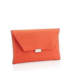 Debut - Orange Envelope Clutch Bag