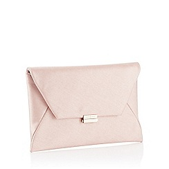 J by Jasper Conran - Pink Shimmer Envelope Clutch Bag