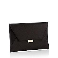 J by Jasper Conran - Black Shimmer Envelope Clutch Bag