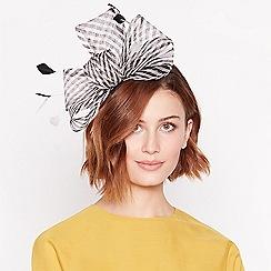 J by Jasper Conran - Black Striped Bow Headband