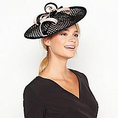 J by Jasper Conran - Black Loop Lattice Saucer Hat