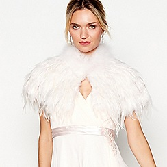 No. 1 Jenny Packham - Pale pink feather shrug