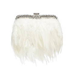 No. 1 Jenny Packham - Ivory feather clutch bag