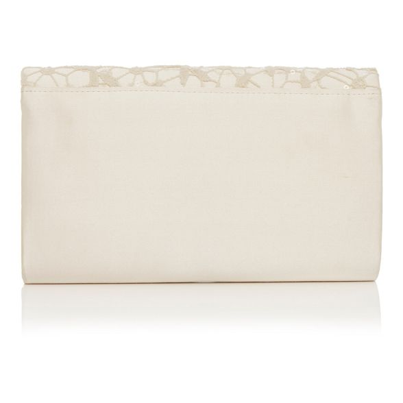 Debut sequinned bag Ivory clutch lace F75vFqrx